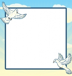 dove in flight frame design vector image