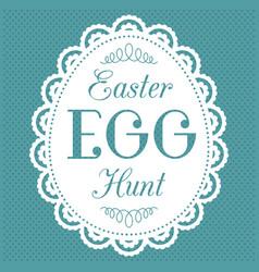 easter egg hunt typography hand lettering font vector image
