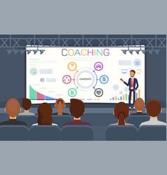 flat banner coaching seminar recruitment agencies vector image