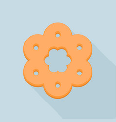 flower biscuit icon flat style vector image