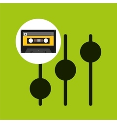 frequency music cassette tape vector image