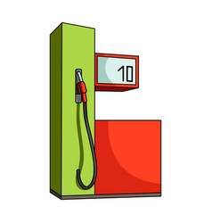 gas station for carscar single icon in cartoon vector image