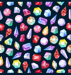 gemstones and jewelry seamless pattern vector image