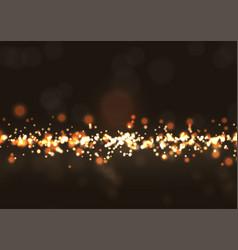 Glittery bokeh lights vector