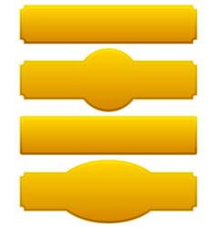 Golden plaques signboards vector