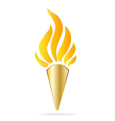 golden torch vector image