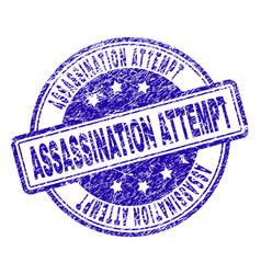 Grunge textured assassination attempt stamp seal vector