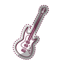 guitar electric instrument isolated icon vector image