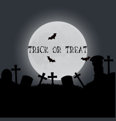 halloween trick or treat card design template vector image