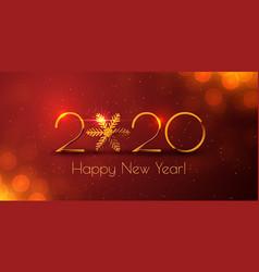 Happy new year 2020 golden text design vector