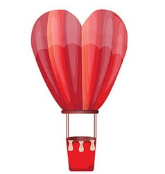 Heart hot air balloon vector
