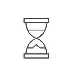 hourglass line icon or time concept vector image