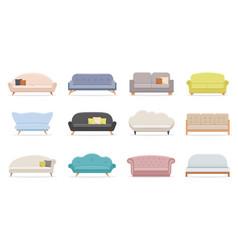 House sofa comfortable couch minimalist modern vector