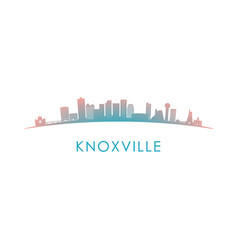 knoxville skyline silhouette design colorful vector image