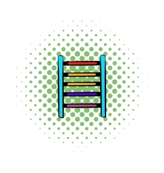 Ladder on playground icon comics style vector