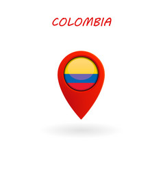 location icon for colombia flag eps file vector image