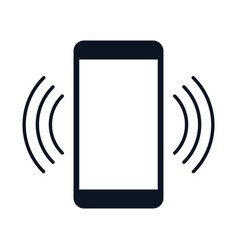 Mobile phone ringing simple icon flat vector