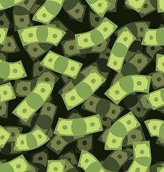 Money seamless pattern Cash background Money Rain vector