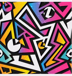 music geometric seamless pattern vector image