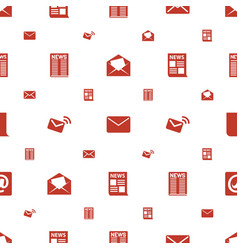 Newsletter icons pattern seamless white background vector