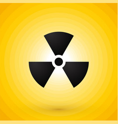 nuclear symbol on yellow background vector image