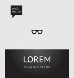 of education symbol on glasses vector image