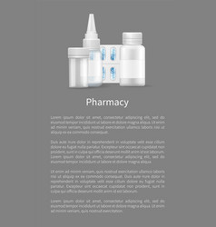 pharmacy poster nasal drops and blister capsules vector image