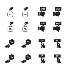 price label set set vector image