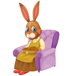 Rabbit sitting vector