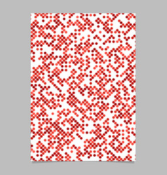 Red dot pattern brochure background - stationery vector