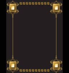 regal frame vector image