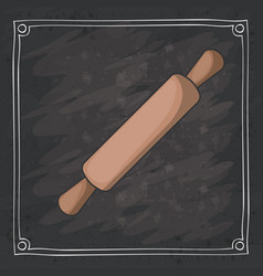rolling pin of bakery instrument design vector image