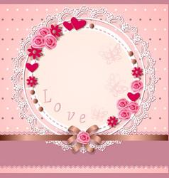romantic card love vector image