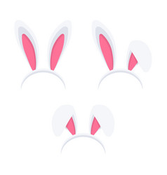 set of easter rabbit ears mask vector image