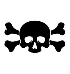 skull and bones 002 vector image