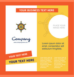 steering company brochure template busienss vector image