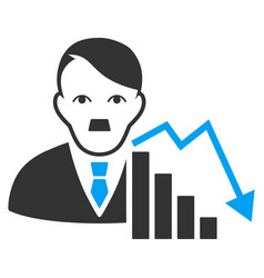 Stock loser flat icon vector