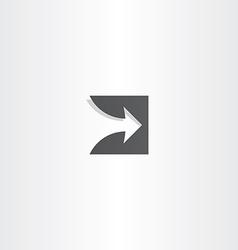 stylized arrow black logo design vector image