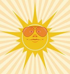 sun smiles vector image