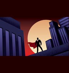 super businessman city night vector image