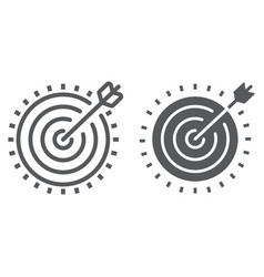 target line and glyph icon development vector image