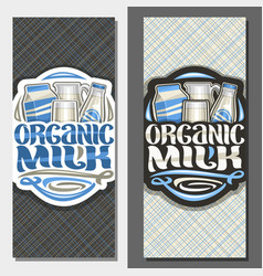 vertical banners for organic milk vector image