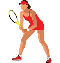 woman tennis vector image