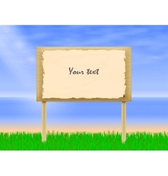 wooden billboard vector image
