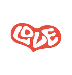 word love with heart love heart text for t-shirt vector image