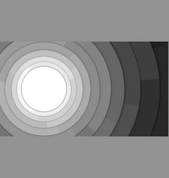 black and white modern circles copy space vector image vector image