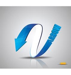 Blue Arrow Symbol vector image