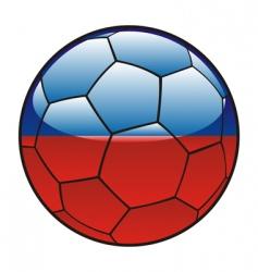 haiti flag on soccer ball vector image vector image