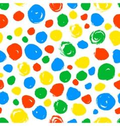 Polka dot seamless pattern Hand drawn artistic vector image