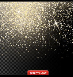 a falling shiny golden vector image vector image